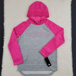Adidas Girls Colorblock Hoodie Sz Large
